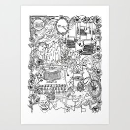 A day out with Lula Art Print