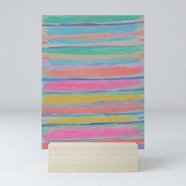 Rainbow Row Abstract Mini Art Print