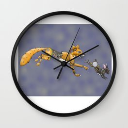 Fox and Rabbit (colored) Wall Clock