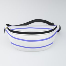 Horizontal Lines (Blue & White Pattern) Fanny Pack