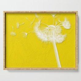 Freesia Yellow Dandelion Serving Tray