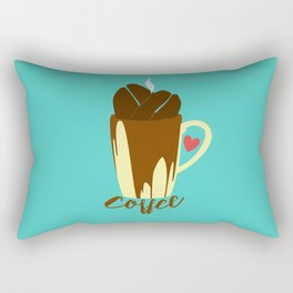 The Coffee Addiction Rectangular Pillow