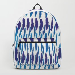 Blue and Purple watercolor brush lines Backpack