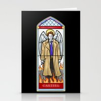 castiel Stationery Cards featuring Castiel by Grace Mutton