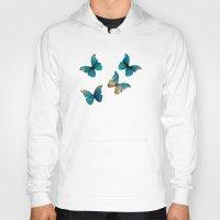 butterflies Hoodies featuring Butterflies by Brontosaurus
