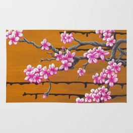October Cherry Blossoms Rug