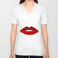 vogue V-neck T-shirts featuring Vogue by Water On Mars