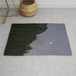 Lavender Moon   Nature and Landscape Photography Rug