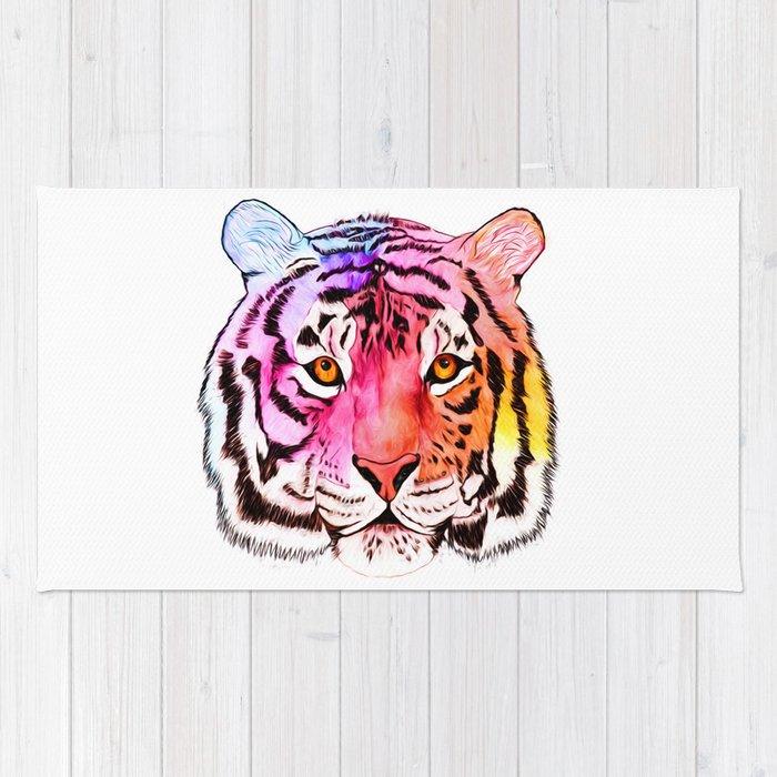 Rainbow Tiger Rug