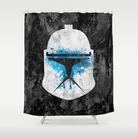 trooper Shower Curtains featuring  Clone Trooper by Some_Designs