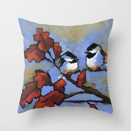 chicka-chicka chickadee Throw Pillow