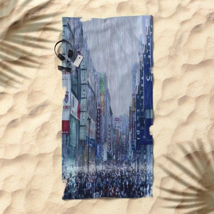 The Downpour Beach Towel