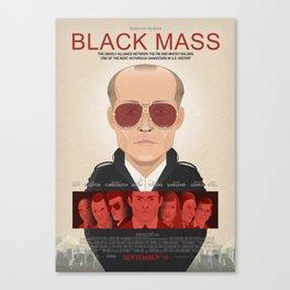 Black Mass - Alternative Movie Poster Canvas Print