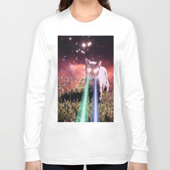 Mega Space Cat Rising Long Sleeve T-shirt