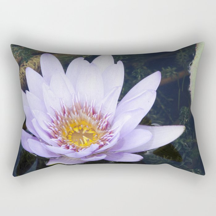 Blue Lotus Flower Rectangular Pillow