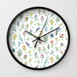 Garden Bouquets Wall Clock