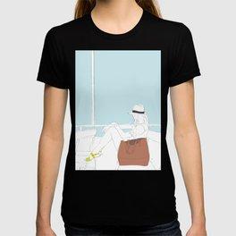 Fashion Travel Girl on the Star Ferry, Hong Kong T-shirt