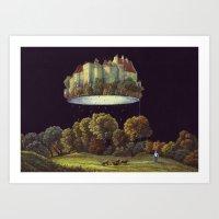 castle in the sky Art Prints featuring Castle by Matthias Leutwyler