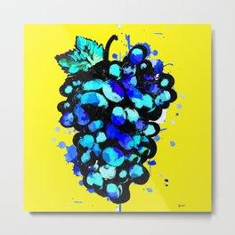 Colored Grape Metal Print