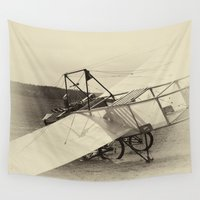 airplane Wall Tapestries featuring Airplane by DistinctyDesign