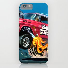 Hot Wheels Candy Striper 55 Gasser Poster iPhone Case