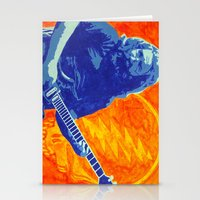 grateful dead Stationery Cards featuring Jerry Garcia - The Grateful Dead by Tipsy Monkey