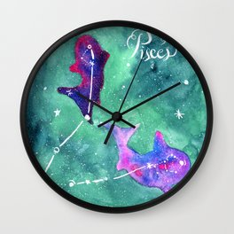 Pisces 3 Wall Clock