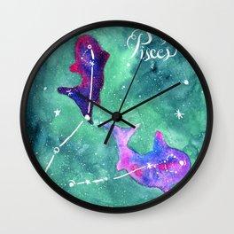 Pisces 3 Wall Clock