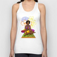 hippie Tank Tops featuring Hippie Chick by Kivitasku Designs