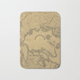 Map of North Pole 1855 Bath Mat