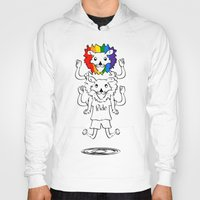 bisexual Hoodies featuring Gay Pride Lions by mailboxdisco