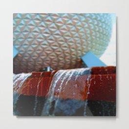 EPCOT Fountain Metal Print