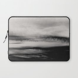 WHITE & BLACK TOUCHING #2 #abstract #decor #art #society6 Laptop Sleeve