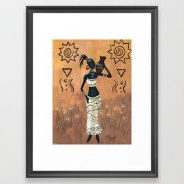 African white Framed Art Print