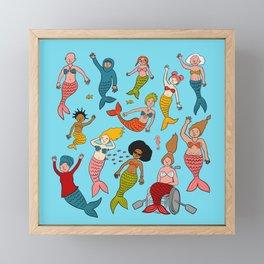 We're all mermaids Framed Mini Art Print