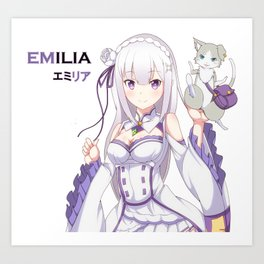 Re: zero Emilia Art Print