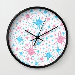 Halloween Spider (white) Wall Clock