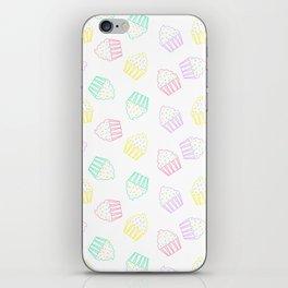 pastel cupcakes  iPhone Skin