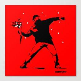 Banksy Flower Thrower Canvas Print