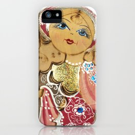 Babushka nesting dolls iPhone Case