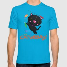Caturday Series: Kimchi Mens Fitted Tee 2X-LARGE Teal
