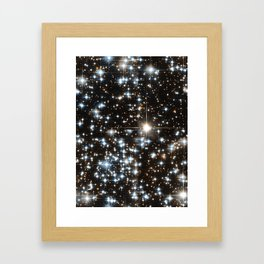 Sparkle Star Field in the Universe Framed Art Print