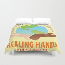 Healing Hands Medical Mission Duvet Cover