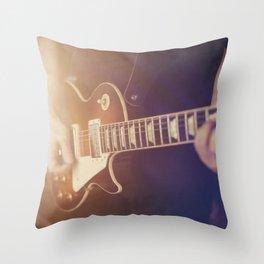 Guitar vibes Throw Pillow