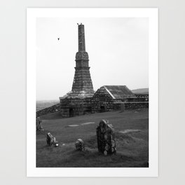 Irish Graveyard, Rock of Cashel Art Print