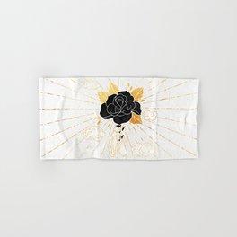 Black Rose Inktober :: Your Psyche Hand & Bath Towel