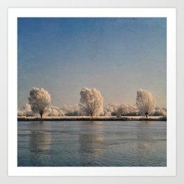 Frozen Landscape. Art Print