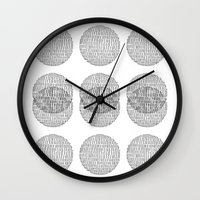 circles Wall Clocks featuring Circles by Catrin Eluned