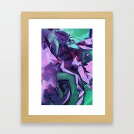 Restless Unicorn. Dynamic Purple and Teal Abstract. Framed Art Print