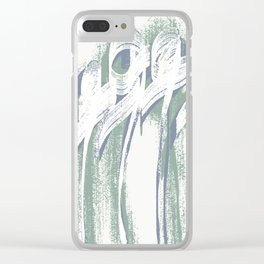 Loneliness Fears 21 Clear iPhone Case